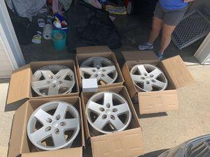 5 Jeep Wrangler wheel rims: size 17x8.5 for Sale in Murfreesboro, TN