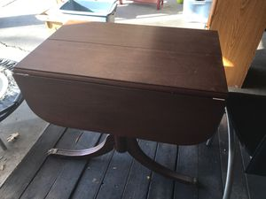 Solid Wood Drop Leaf Table for Sale in Wheat Ridge, CO