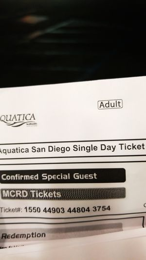 CHEAP 6 AQUATICA TICKETS NEED GONE ASAP for Sale in San Diego, CA