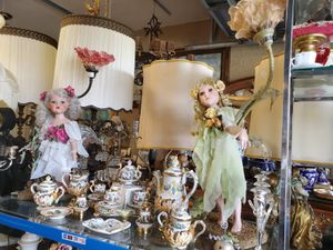 Beautiful pair of fairy lamps dolls porcelain for Sale in Miami, FL