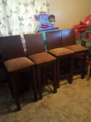 4 matching bar stools excellent condition sturdy and well-built 30 inches from the floor to the seat these are Tall Boy chairs for Sale in Phoenix, AZ