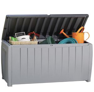 Keter Novel Plastic Deck Storage Container Box Outdoor Patio Garden Furniture 90 Gal, Black (STILL IN BOX) for Sale in Clifton, NJ