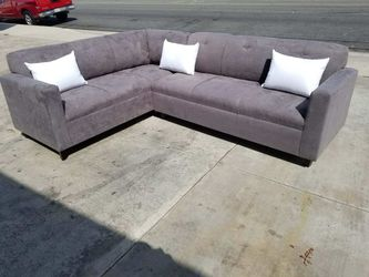 NEW 7X9FT CHARCOAL MICROFIBER SECTIONAL COUCHES for Sale in San Diego,  CA
