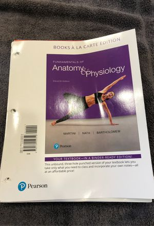 Fundamentals of Anatomy and Physiology 11th Edition with the Lab Book for Sale in WINCHESTR CTR, CT