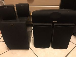 Polk Audio and JVC speakers with powered JVC Subwoofer for Sale in Tampa, FL