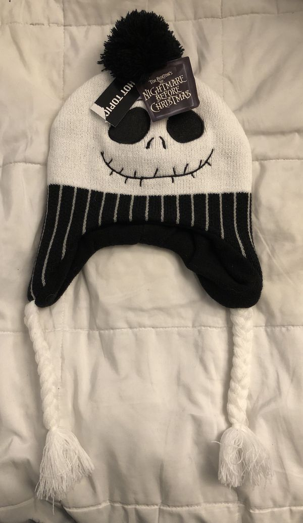 "Hot Topic ~The nightmare before Christmas~ ""Jack Skellington"" Beanie"