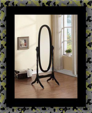 Black swivel oval mirror for Sale in Chantilly, VA