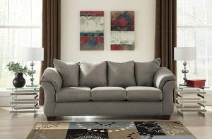 Darcy Microfiber Sofa From Ashely New with Tags (Cobblestone Grey) for Sale in Las Vegas, NV