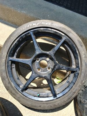 Black 4 lug 16 inch rims with tires for Sale in Chester, MD