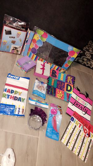 Birthday bags/boxes + misc for Sale in Austin, TX