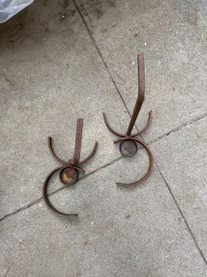 Pair of Vintage Iron Votive Holders for Patio or Garden for Sale in Los Angeles, CA