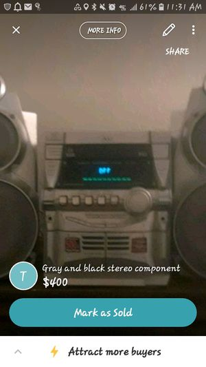 Old compacted JVC home speaker for Sale in Christoval, TX