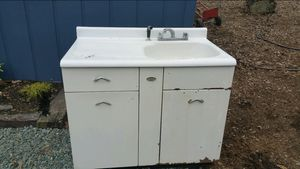 Antique sink with cabinet and shelves for Sale in Chapel Hill, NC