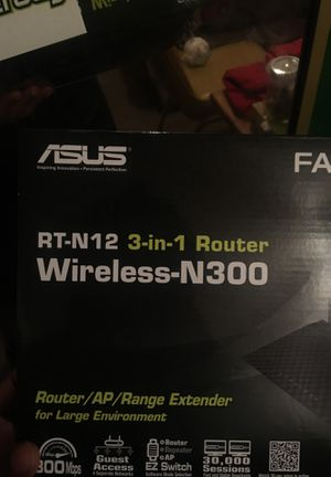 Asus wireless n-300 router for Sale in Peoria, AZ