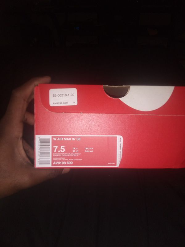 Nike air Max 97 burgundy
