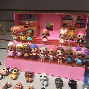Lol Doll Lot, 32 LOL/ OMG Dolls + Doll Stand + Accessories for Sale in Santa Rosa, CA