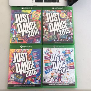Just Dance 2014, 2015, 2016, 2019 For Xbox for Sale in Sunnyvale, CA