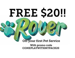 $20 of first Rover service for Sale in Denver, CO