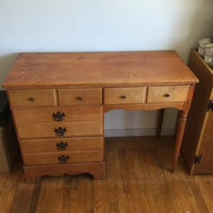 Dresser, desk, night stand, vintage and in good shape. Needs a bit of TLC. Solid wood. for Sale in San Francisco, CA