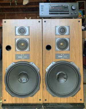 Onkyo receiver stereo & Sanyo speakers. for Sale in Dallas, TX