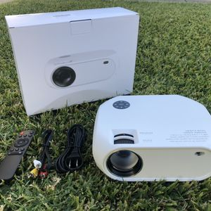 """WIRELESS WIFI Projector 4500L,Support Dolby 50,000Hrs, 200"""" Display, 1080P, Compatible with Android, iOS, Video Games, TV Stick, Laptops for Sale in Rancho Cucamonga, CA"""