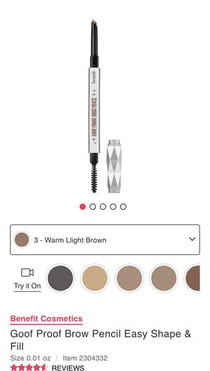 Benefit Goof Proof Brow Pencil for Sale in Fresno, CA