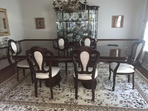 Dining table, 6 chairs and china cabinet for Sale in Trafford, PA