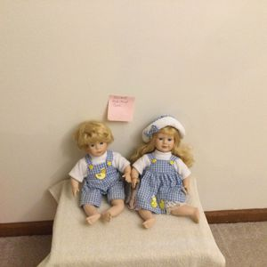 Collectible Porcelain Doll Pair - Twins for Sale in Lombard, IL