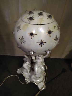Mother of pearl Cherub Lamp for Sale in Pittston, PA