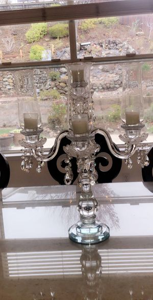 Beautiful candle Crystal Glass $100 24inches length, 16 inches wide for Sale in Castro Valley, CA