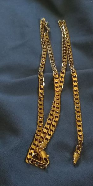 This item is a 3 new gold filled 20 inch long 3 mm Cuban Link necklace stamped JH jewelers mark made in Anaconda,Montana new never worn for Sale in Anaconda, MT