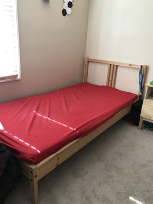 IKEA twin bed frame with slats. Mattress not included. for Sale in Harrisonburg, VA