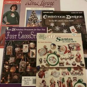 Vintage Christmas Cross Stitch Books Lot of 5 for Sale in Liberty, NY