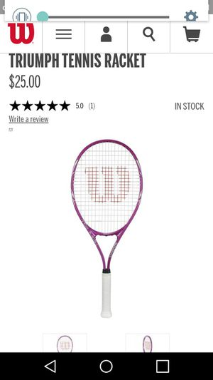 Wilson Triumph Tennis Racket for Sale in Las Vegas, NV