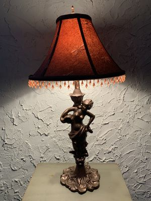 """Vintage Art-Deco Metal Woman-Figure Table Lamp (Height: 30"""") for Sale in Dade City, FL"""