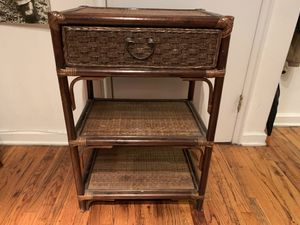 Wicker End Table / Night Stand / Kitchen Cart for Sale in New York, NY