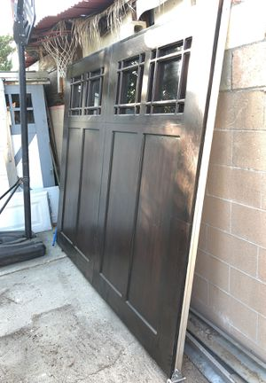 Garage door for sale wood Face custom made Only one door for Sale in Pomona, CA