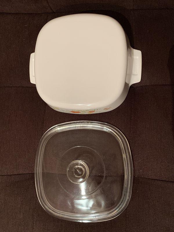 CorningWare Casserole Dish with Pyrex Lid—Wildflower Pattern
