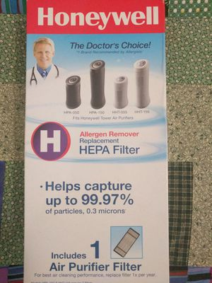 Honeywell, Air Purifier Filter - Model#HRF-H1 for Sale in Alpharetta, GA