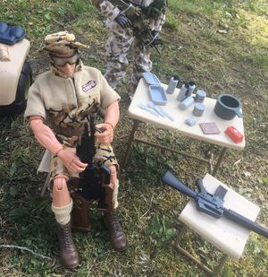 """GI Joe 12""""Action Figure with accessories (table needs to be glued down the middle) $45 for Sale in Toms River, NJ"""