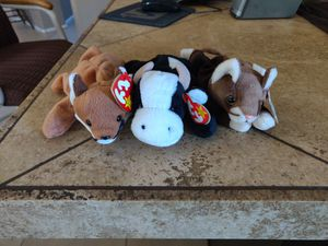 Stocking Stuffers. TY Beanie Babies. Group of 3 for 5.00 for Sale in Tempe, AZ