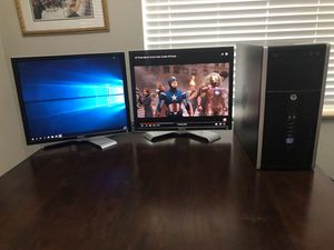 i7 dell computer with 2 monitors setup for Sale in Denver, CO