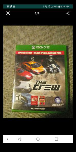 XBOX ONE THE CREW LIMITED EDITION for Sale in San Bernardino, CA