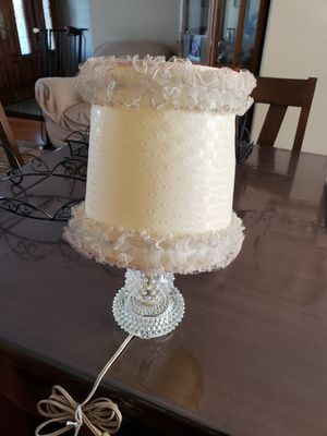 Antique milk glass hobnail lamp for Sale in San Jose, CA