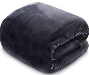 Soft Blanket Queen Size All Season Fleece Blankets, Luxury Cozy Plush Throw Blanket , 90 by 90 Inches, Dark Grey for Sale in Hacienda Heights, CA