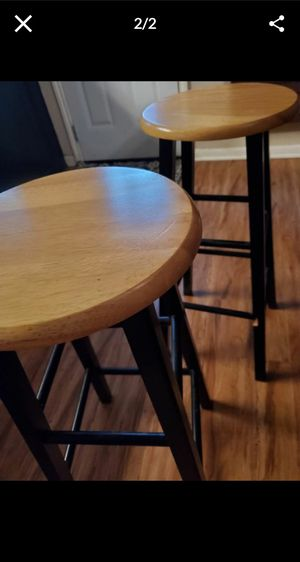 Tall Black Wooden Stools for Sale in Houston, TX