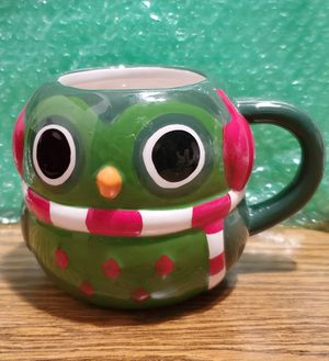 MESA HOME PRODUCTS BRAND CHRISTMAS OWEL COFFEE MUG PRE-OWNED IN GOOD CONDITION for Sale in Lynwood, CA