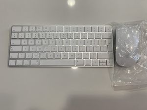 NEW Genuine Apple Wireless Magic Keyboard 2 MLA22LL/A and Magic Mouse 2MLA02LL/A Bundle for Computers, iPads, Apple TV NEW AppleModel: A1644, A1657 for Sale in Los Angeles, CA