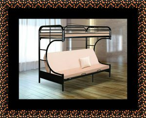 Twin futon bunk bed frame for Sale in Greenbelt, MD