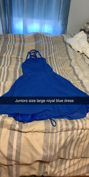 Juniors Size Large Royal Blue Dress for Sale in Montgomery, PA